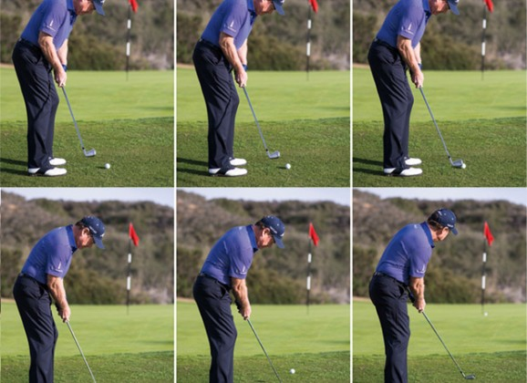 PUTTING WITH YOUR 5-IRON IS A GREAT PLAY- EASIEST CHIP SHOT